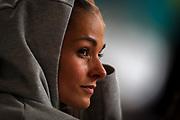 Tereza Petrzilkova (Czech Republic), sprinter, 200 Metres, 400 metres, spectator, watching her fellow athletes compete during the 2019 IAAF World Athletics Championships at Khalifa International Stadium, Doha, Qatar on 27 September 2019.