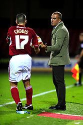 Swindon Town's Manger Pablo Di Canio gives the ball to his player - Photo mandatory by-line: Dougie Allward/Josephmeredith.com  - Tel: Mobile:07966 386802 08/08/2012 - SPORT - FOOTBALL - Pre Season - Friendly - Swindon  - County Ground - Swindon Town V Crystal Palace