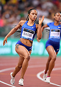 Salwa Eid Naser (BRN) wins the women's 400m in 50.26during the 39th Golden Gala Pietro Menena in an IAAF Diamond League meet at Stadio Olimpico in Rome on Thursday, June 6, 2019. (Jiro Mochizuki/Image of Sport)
