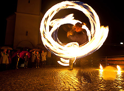 27.05.2011, Pfarre, Kaprun, AUT, Lange Nacht der Kirchen, im Bild als Abschluß gab es eine Feuershow vor der Kirche, EXPA Pictures © 2011, PhotoCredit: EXPA/ J. Feichter