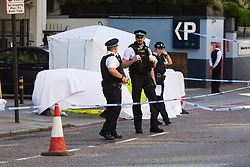 Police were called at approximately 12:55hrs on Thursday, 4 July to reports of a man injured after falling from a height from the building housing The Hilton Olympia Hotel in Holland Road, W8, London. London Ambulance Service attended – the man was pronounced dead at the scene.<br /> At this early stage the death is being treated as unexplained.. London, July 04 2019.