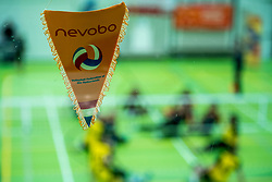 28-04-2018 NED: NK Zitvolleybal, Koog aan de Zaan<br /> vv Apollo Mill wint de kleine finale van het NK zitvolleybal met 3-2 van VC Allvo / Nevobo vaantje, item zitvolleybal