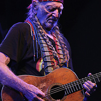 "Country-music icon Willie Nelson kicked off his 2014 U.S. tour by performing outdoors to thousands of fans at Silver Springs State Park's Twin Oaks Amphitheatre on Saturday, February 1, 2014, in Ocala, Florida. Nelson reportedly joined other scheduled acts and backed out of a scheduled performance at SeaWorld Orlando after negative publicity over the documentary film ""Blackfish"".  (AP Photo/Alex Menendez)"