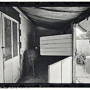 My Grandmother's cottage captured on B/W film October 1981