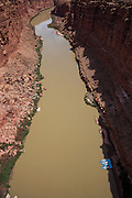 The view of the Colorado River from the Navajo Bridges. Marble Canyon in northern Arizona.