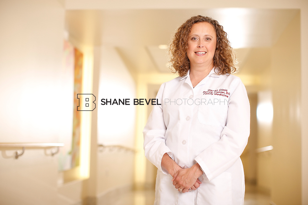 5/28/15 4:15:11 PM -- Dr. Renee Frenier of Saint Francis Health System poses for a portrait for the 2015 Advertising Campaign. <br /> <br /> Photo by Shane Bevel