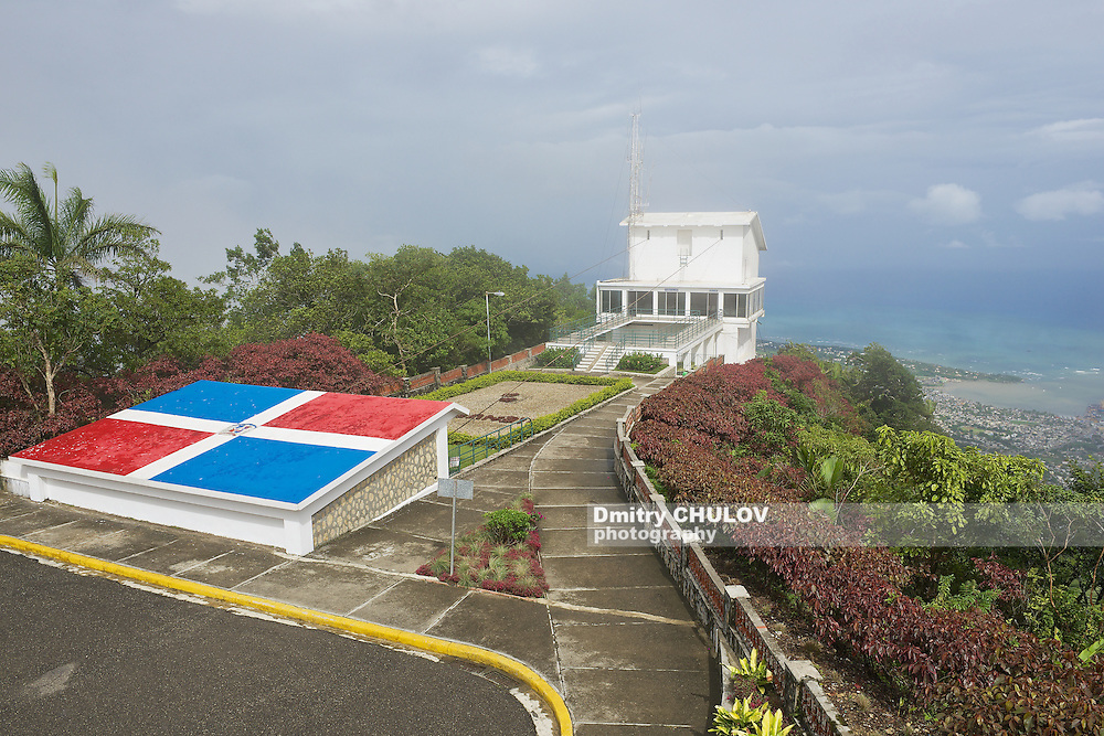 PUERTO PLATA, DOMINICAN REPUBLIC - NOVEMBER 04, 2012: Exterior of the upper air tram station at the top of Pico Isabel de Torres in Puerto Plata, Dominican Republic.