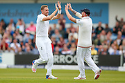 England & Nottinghamshire bowler Stuart Broad  gets the wicket of Sri Lanka Kusal Mendis  during day 2 of the first Investec Test Series 2016 match between England and Sri Lanka at Headingley Stadium, Headingley, United Kingdom on 20 May 2016. Photo by Simon Davies.