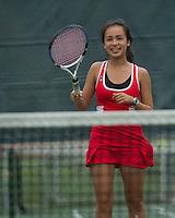 St Paul's School girls varsity tennis May 22, 2013.  Karen Bobotas Photographer