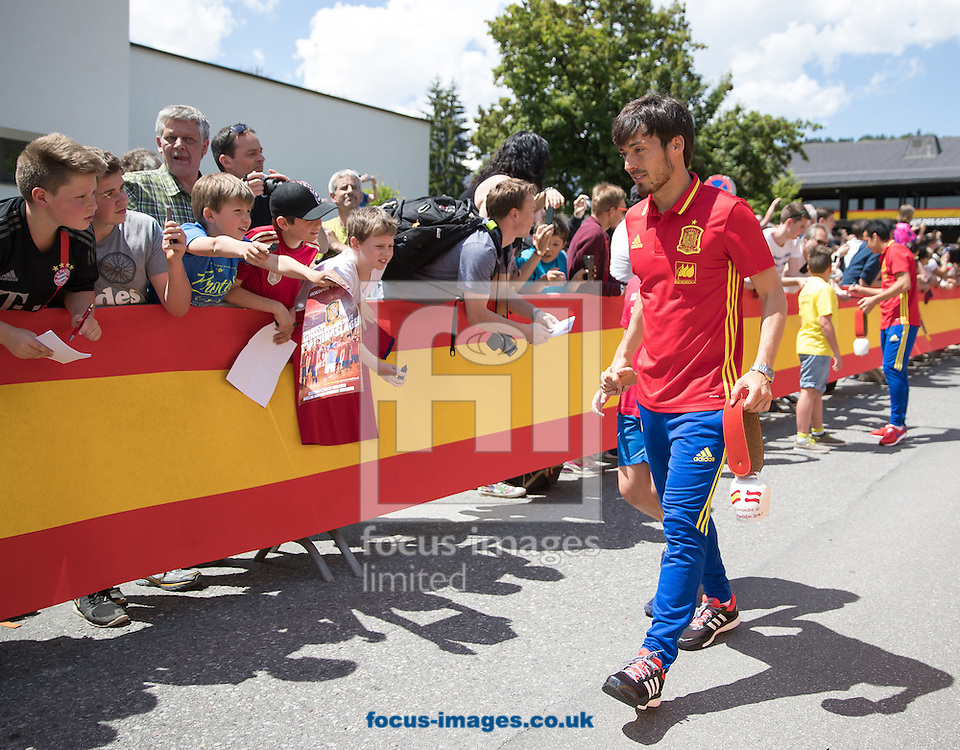 David Silva of Spain arrives at Lowen Hotel, Schruns, Austria.<br /> Picture by EXPA Pictures/Focus Images Ltd 07814482222<br /> 26/05/2016<br /> ***UK &amp; IRELAND ONLY***<br /> EXPA-GRO-160526-5006.jpg