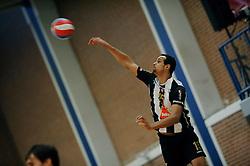 28-12-2009 VOLLEYBAL: VOLLEY AMRISWIL - SC ESPINHO: ALMELO<br /> Op het Ermasport Volleyball Classic 2009 wint Espinho met 2-1 van Amriswil / Maurico Silva<br /> ©2009-WWW.FOTOHOOGENDOORN.NL