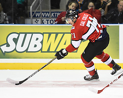 Michael Dal Colle of the Oshawa Generals represented Team OHL in Game 4 of the 2014 SUBWAY Super Series in Kingston, ON on Monday, Nov. 17, 2014. Photo by Aaron Bell/OHL Images