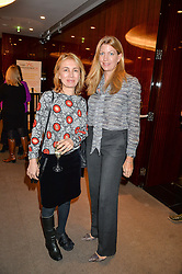 Left to right, SAHA HASHEMI founder of Coffee Republic and COUNTESS COSIMA PAVONCELLI at a ladies lunch in aid of the charity Child Bereavement UK held at The Bulgari Hotel, 171 Knightsbridge, London on 25th February 2016.
