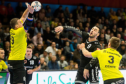 Andrija Pendic of Kadetten Schaffhausen during handball match between RK Gorenje Velenje and Kadetten Schaffhausen in VELUX EHF Champions League, on November 25, 2017 in Rdeca Dvorana, Velenje, Slovenia. Photo by Ziga Zupan / Sportida