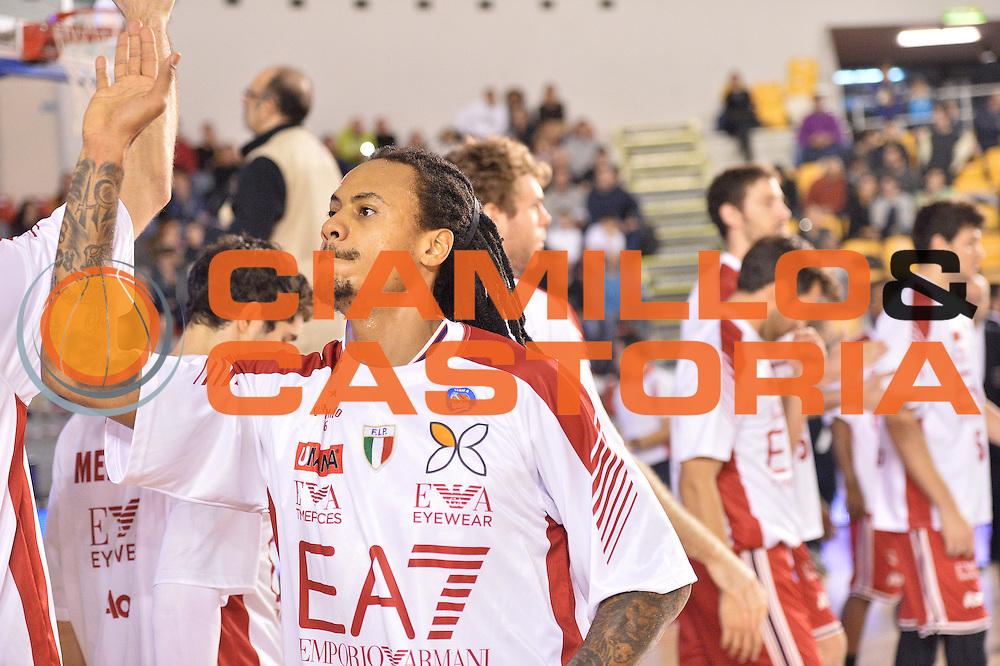 DESCRIZIONE : Roma Lega A 2014-15 Acea Virtus Roma Emporio Armani Milano<br /> GIOCATORE : david moss<br /> CATEGORIA : pre game<br /> SQUADRA : Acea Virtus Roma Emporio Armani Milano<br /> EVENTO : Campionato Lega Serie A 2014-2015<br /> GARA : Acea Virtus Roma Varese<br /> DATA : 21.12.2014<br /> SPORT : Pallacanestro <br /> AUTORE : Agenzia Ciamillo-Castoria/M.Greco<br /> Galleria : Lega Basket A 2014-2015 <br /> Fotonotizia : Roma Lega A 2014-15 Acea Virtus Roma Emporio Armani Milano