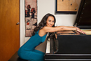 Elaine Kwon, concert pianist and kung-fu expert. Photographed for NY Moves Magazine