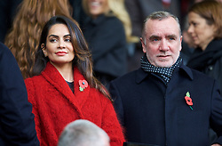LIVERPOOL, ENGLAND - Saturday, November 8, 2014: Liverpool's Managing Director Ian Ayre and female guest during the Premier League match against Chelsea at Anfield. (Pic by David Rawcliffe/Propaganda)