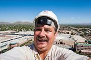26 AUGUST 2005 - A self portrait of photographer Jack Kurtz taken at a construction project in Scottsdale, AZ. PHOTO BY JACK KURTZ