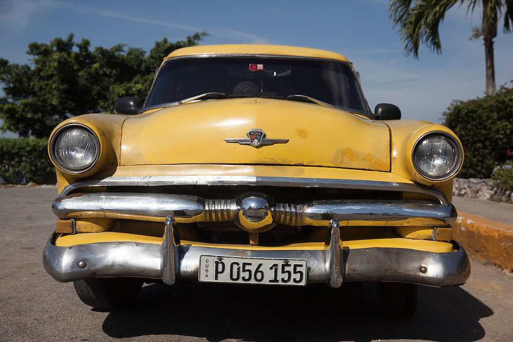 Front of an old American car in Havana, Cuba