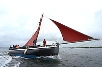 18/08/2013 An Maighdean Mhara a Galway Hooker during  the annual Crinniu na mBad (The Gathering of the boats) Festival in the picturesque village of Kinvara Co. Galway. Picture:Andrew Downes
