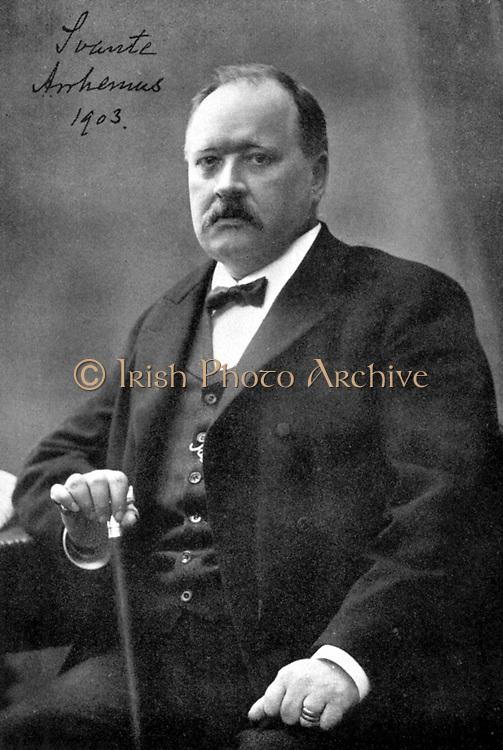 Svante Arrhenius (1859-1927) Swedish physicist and chemist. Nobel prize for chemistry 1902. Director of Nobel Institute 1905. Arrhenius in 1903.