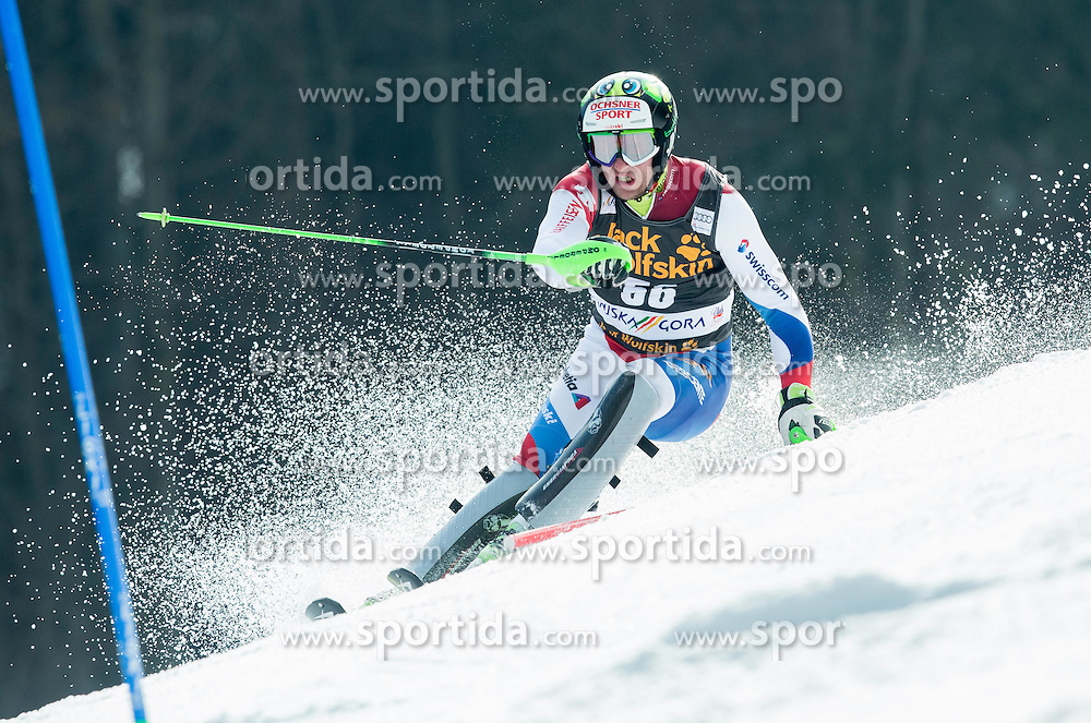 MURISIER Justin of Switzerland competes during 1st Run of Men Slalom race of FIS Alpine Ski World Cup 54th Vitranc Cup 2015, on March 15, 2015 in Kranjska Gora, Slovenia. Photo by Vid Ponikvar / Sportida