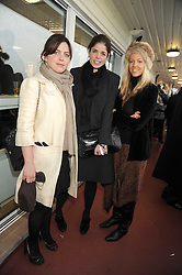 Left to right, GIOCONDA SCOTT, LAURA MYERS and TATIANA VON DER PAHLEN at the 2008 Hennessy Gold Cup held at Newbury racecourse, Berkshire on 29th November 2008.<br /> <br /> NON EXCLUSIVE - WORLD RIGHTS