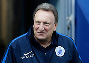 QPR Manager Neil Warnock befor the Sky Bet Championship match between Queens Park Rangers and Leeds United at the Loftus Road Stadium, London, England on 28 November 2015. Photo by Andy Walter