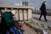 Street painter in Hiroshima