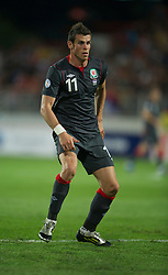 NOVI SAD, SERBIA - Tuesday, September 11, 2012: Wales' Gareth Bale in action against Serbia during the 2014 FIFA World Cup Brazil Qualifying Group A match at the Karadorde Stadium. (Pic by David Rawcliffe/Propaganda)