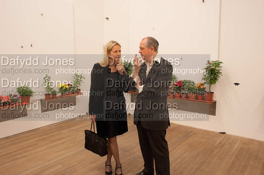IWONA BLAZWICK; ADRIAN DANNATT, Damien Hirst, Tate Modern: dinner. 2 April 2012.