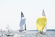 Ruweida V sailing in the Herreshoff Classic Yacht Regatta.