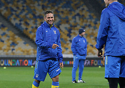 October 8, 2017 - Kiev, Ukraine - Ukrainian national team player Marlos during training before the World Cup Group I qualifying soccer match between Ukraine and Croatia at the Olympic Stadium in Kiev. Ukraine, Sunday, October 8, 2017  (Credit Image: © Danil Shamkin/NurPhoto via ZUMA Press)