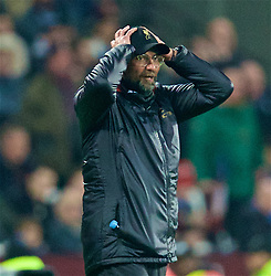 LONDON, ENGLAND - Monday, February 4, 2019: Liverpool's manager Jürgen Klopp reacts during the FA Premier League match between West Ham United FC and Liverpool FC at the London Stadium. (Pic by David Rawcliffe/Propaganda)