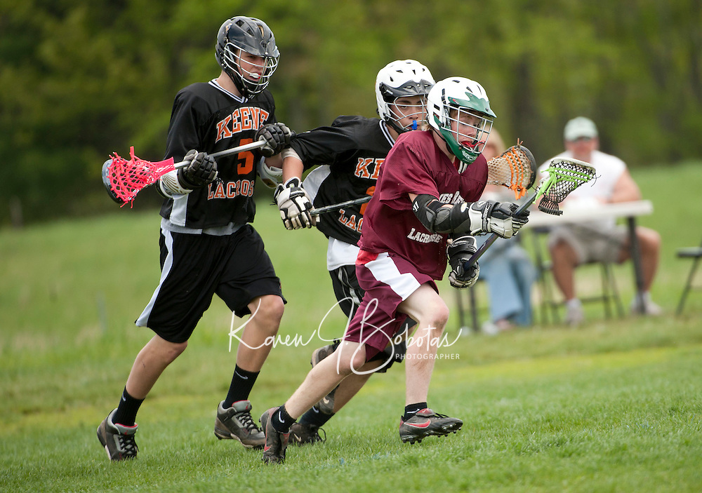 Lakes Region Lacrosse U15 boys versus Keene May 13, 2012.