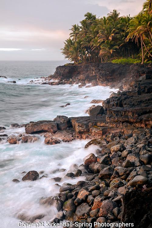 HI00318-00...HAWAI'I - Rocky coast along the Kaimu-Kapoho Highway 137 on the Island of Hawai'i.