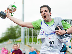 Sheffield Half Marathon Fun Run Sunday Morning.Garunteed winner one fun runner brings his own trophy...12 May 2013.Image © Paul David Drabble