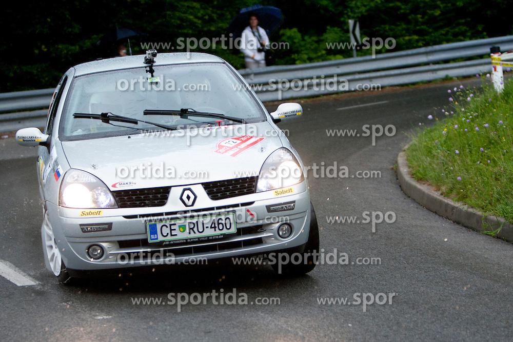 Primoz Skorjanc and Gregor Skapin of SLO during 35th Rally Saturnus, on May 12, 2012, in Trbovlje, Slovenia. (Photo by Urban Urbanc / Sportida)