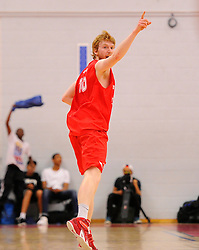 Bristol Flyers' Mathias Seilund celebrates  - Photo mandatory by-line: Joe Meredith/JMP - Mobile: 07966 386802 - 18/04/2015 - SPORT - Basketball - Bristol - SGS Wise Campus - Bristol Flyers v Leeds Force - British Basketball League