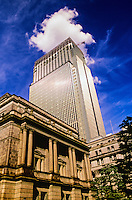 Bank of Japan Building (in front), Muromachi Mitsui Shinkan Building in back, Tokyo, Japan