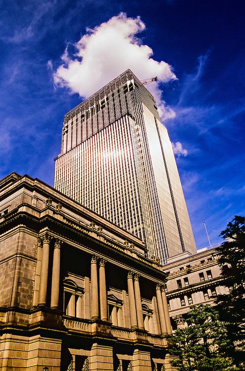 Bank of Japan Building (in front), Muromachi Mitsui Shinkan Building in back, Tokyo, Japan