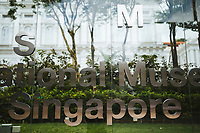 A sign for the National Museum of Singapore.