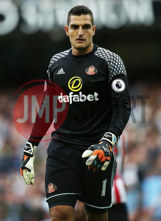 Vito Mannone of Sunderland  - Mandatory by-line: Matt McNulty/JMP - 13/08/2016 - FOOTBALL - Etihad Stadium - Manchester, England - Manchester City v Sunderland - Premier League