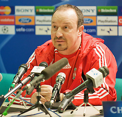 MILAN, ITALY - Monday, March 10, 2008: Liverpool's manager Rafael Benitez during a press conference at the San Siro Stadium ahead of the UEFA Champions League First knockout round 2nd Leg match against FC Internazionale Milano. (Pic by David Rawcliffe/Propaganda)