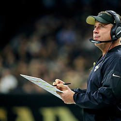 Nov 13, 2016; New Orleans, LA, USA;  New Orleans Saints head coach Sean Payton during the first half of a game against the Denver Broncos at the Mercedes-Benz Superdome. Mandatory Credit: Derick E. Hingle-USA TODAY Sports