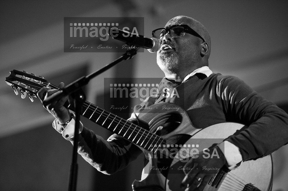 CAPE TOWN, SOUTH AFRICA - Wednesday 1 October 2014, Jonathan Butler, world renowned guitarist and jazz musician, gave an impromptu session during the Cape Music Institute (CMI) end of term concert at Grand West Casino and Entertainment World's Market Hall. &lsquo;Brand New Stars&rsquo; is the creation of the Cape Music Institute, which aims to highlight the wealth of talent &ndash; across all music genres &ndash; that South Africa has to offer. In its launch year, &lsquo;Brand New Stars&rsquo; will focus on Jazz as a genre. Students from the Cape Music Institute (CMI) and the Kicks &amp; Sticks orchestra (one of Europe's top youth jazz orchestras) performed to an assembly of Music colleges, talent scouts, dignitaries and a limited number of paying music lovers.<br /> Photo by Roger Sedres/ImageSA
