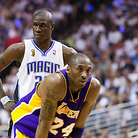NBA - FINALS NBA 2008/2009 - LOS ANGELES LAKERS V ORLANDO MAGIC - GAME 5 -  ORLANDO (USA) - 14/06/2009 - .MICKAEL PIETRUS (ORLANDO MAGIC), KOBE BRYANT (LOS ANGELES LAKERS)