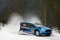 05	M-Sport World Rally Team, Ostberg Mads, Floene Ola, Ford, Fiesta Wrc, Action during the 2016 WRC World Rally Car Championship, Sweden rally from February  12 to 14, at Hagfors - Photo Francois Baudin / DPPI