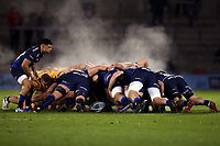 Rugby Union - 2019 / 2020 Gallagher Premiership - Sale Sharks vs. Wasps <br /> <br /> Steam rises off the scrum as Sales Sharks and Wasps compete, at AJ Bell Stadium,<br /> <br /> COLORSPORT/PAUL GREENWOOD