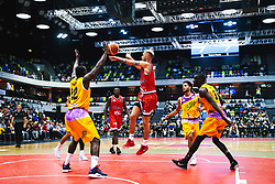 Jordan Nicholls of Bristol Flyers in action as Bristol Flyers play London Lions - Rogan/JMP - 14/10/2018 - BASKETBALL - Copper Box Arena - London, England - British Basketball All-Stars Championship 2018.